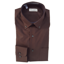 CLASSIC COLLECTION CAMICIA M. LUNGA MARRONE