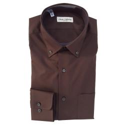 Classic Collection Camicia Maniche Lunghe Marrone