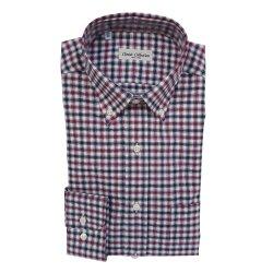 Classic Collection Camicia Maniche Lunghe a Quadretti Rossa