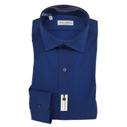CLASSIC COLLECTION CAMICIA M. LUNGA BLU SLIM