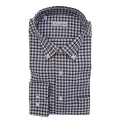 Classic Collection Camicia Maniche Lunghe a Quadretti Marrone