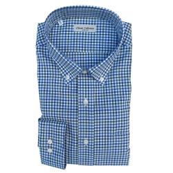 Classic Collection Camicia Maniche Lunghe a Quadretti Blu