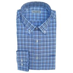 Classic Collection Camicia Maniche Lunghe a Quadri Blu