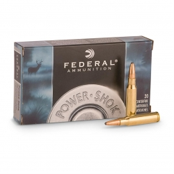 FEDERAL POWER SHOCK 243 WIN 80GR SP