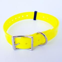 Collare alta visibilità Biothane giallo