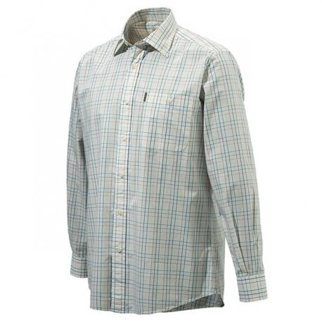 Beretta Camicia Drip Dry Plain Collar bianca e giallo