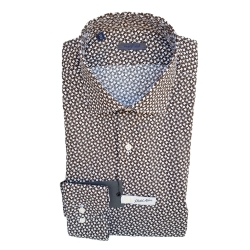 Golf Club Camicia Maniche Lunghe Marrone