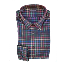 GOLF CLUB CAMICIA M. LUNGA A QUADRI NERO