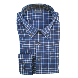 GOLF CLUB CAMICIA M. LUNGA A QUADRI BLU