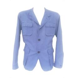 Beretta Giacca in Lino e Cotone Blue Washed