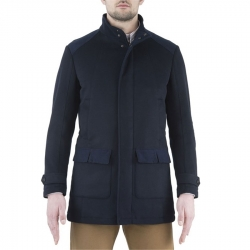Beretta Cappotto in Lana Country Wool Blu