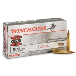 Winchester Jacketed Soft Point Cal. 222 Rem 50gr