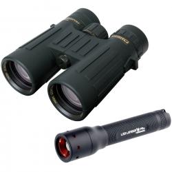 Steiner Binocolo Observer 8X42 + Torcia Led Lenser P5.2