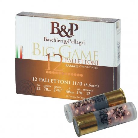 B&P BIG GAME PALLETTONI 11/0 (12 PALLETTONI-8,6MM) CAL.12