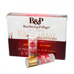 B&P BIG GAME PALLETTONI 11/0 (15 PALLETTONI-8,6MM) CAL.12
