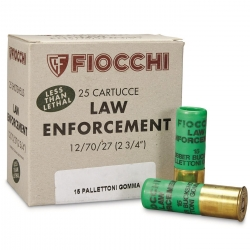Fiocchi Law Enforcement 15 Pallettoni in Gomma Cal. 12