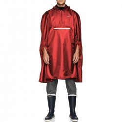 CMP Poncho Impermeabile Unisex Rosso