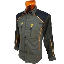 Dimar Camicia in Softshell Verde/Arancione Dimar-tex