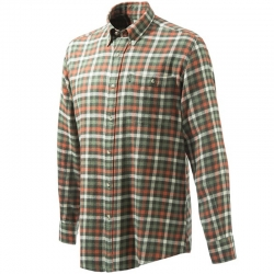 CAMICIA BERETTA BUTTON GREEN ORANGE