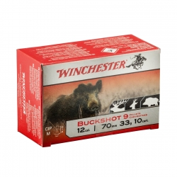 CART.WINCHESTER BUCKSHOT 9 PALLETTON