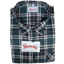 Pensacola Camicia in Flanella Verde/Nera