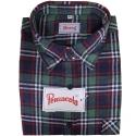 Pensacola Camicia in Flanella Verde/Blu