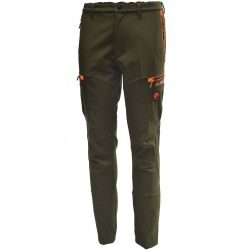 Univers Pantalone in Softshell Verde/Arancione Univers-tex 92136 392