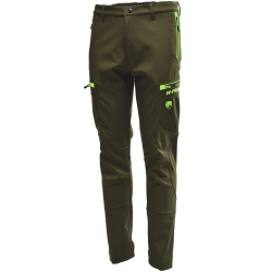 Univers Pantalone in Softshell Verde Fluo Univers-tex 92136 400