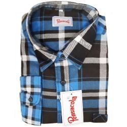 Pensacola Camicia in Flanella Blu/Nera
