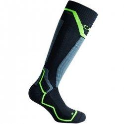 CMP Calza Tecnica Ski Wool Nera/Verde