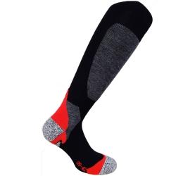 CMP Calza Tecnica Ski Wool Nera/Rossa