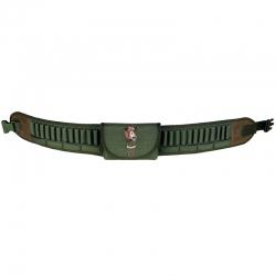 Riserva Cartuccera con Giberna per Carabina 24 Celle Multicalibro Verde