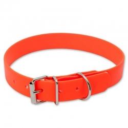 Collare Alta Visibilità Biothane Arancione 25mm