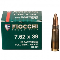 Fiocchi FMJ 7.62X39 Soviet 124gr