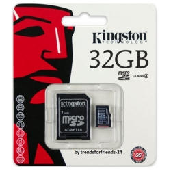 MEMORY CARD MICRO SDHC 32GB KINGSTON
