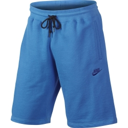 NIKE PANTALONE CORTO AW77 FT SHORT BLUE