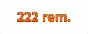Cartucce rigato lungo - Cal. 222 REM.
